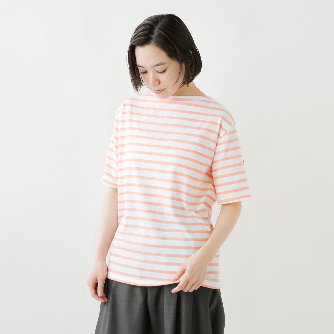 SAINT JAMES(セントジェームス) コットンボートネックボーダーTシャツ piriac-m