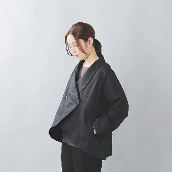 【30%OFF】toHu(トフ)<br>リネントレンチケープコート th20s0002