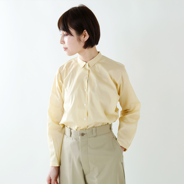 "LENO(リノ)<br />ロングスリーブギャザ—ドブラウス""Long Sleeve Gathered Blouse"" l1801-sh001"