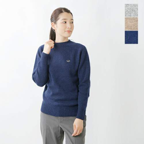 SCYE BASICS<br />シェットランドウールクルーネックセーター
