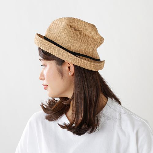 """mature ha.(マチュアーハ)aranciato別注 細グログランリボンボックスハット""""BOXED HAT 7cm brim"""" mbox-104-thin-sn"""