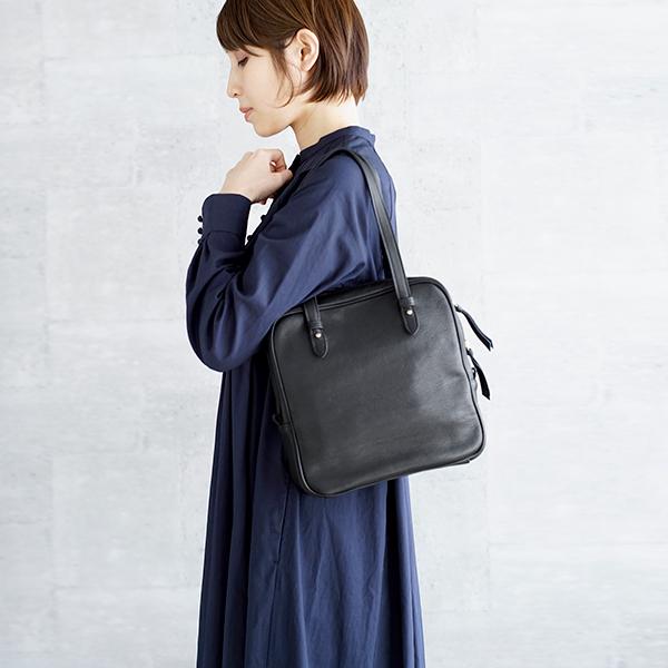 Yammart(ヤマート) カウレザースクエアハンドバッグ square-hand-bag