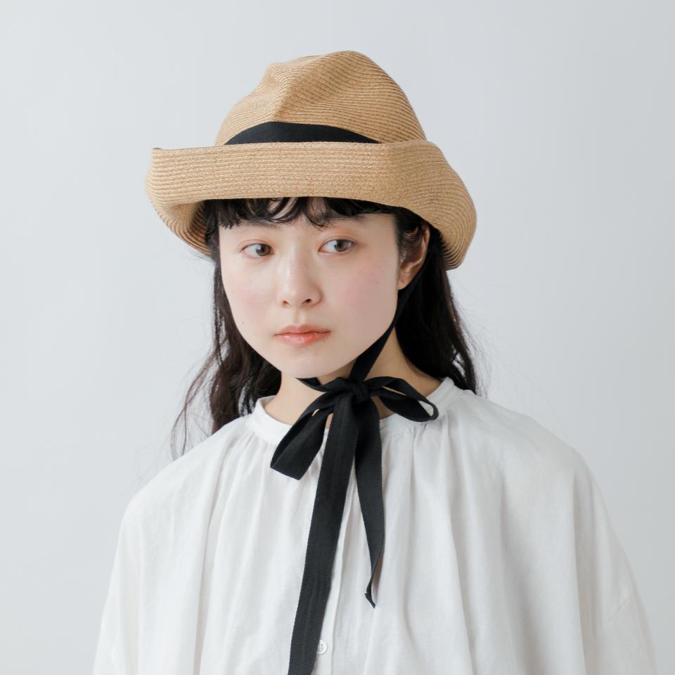 "mature ha.(マチュアーハ) フォルダウェイペーパーブレイドハット""BOXED HAT 11cm brim"" mbox-101ga-fn"