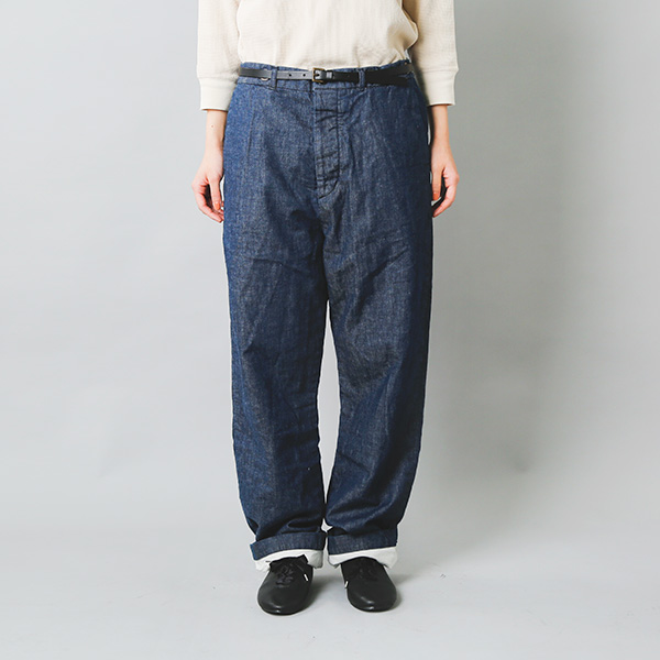 Manufactures&Co.(マニュファクチャーズアンドコー)<br>デニムワーカートラウザーズパンツ worker-trousers