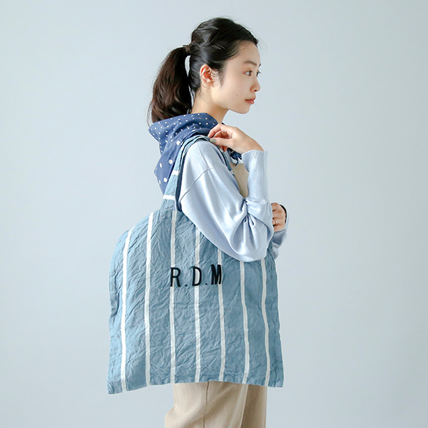 R & D.M.Co-<br />リネンレタードバッグ